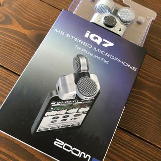 ズーム(Zoom)の 【未開封新品】ZOOM IQ7 iPhone 外付け マイク 高音質(マイク)