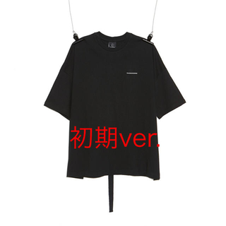 ピースマイナスワン(PEACEMINUSONE)のPMO COTTON T-SHIRT #1 BLACK 初期ver.(Tシャツ/カットソー(半袖/袖なし))