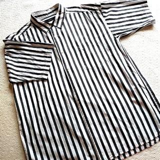 RAGEBLUE - グレーストライプ半袖シャツ