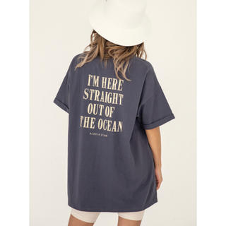ALEXIA STAM - Back Message Tee チャコール