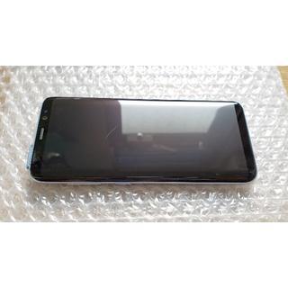 サムスン(SAMSUNG)の美品 GalaxyS8 SCV36 青色 SIM解除済/SC-02J化可能(スマートフォン本体)