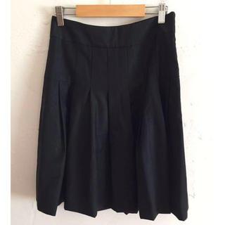 セオリーリュクス(Theory luxe)のtheory セオリー レディース スカート ブラック ウール サイズ36(ひざ丈スカート)