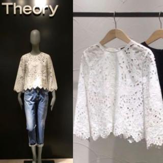 theory - 定価42120円 セオリー アイレットレース ブラウス S