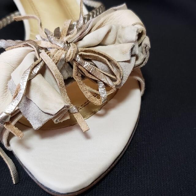 AU BANNISTER(オゥバニスター)のAU BANNISTER ビンテージ風 レザー サンダル レディースの靴/シューズ(サンダル)の商品写真