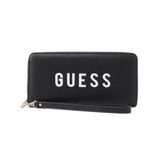 ゲス(GUESS)の新品!GUESS(ゲス)★ストラップ付き ロングウォレット 長財布 ブラック(財布)