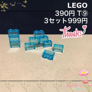 Lego - LEGO レゴフレンズ T⑨ 1×2 トランスブルー 透明 クリアー 10個