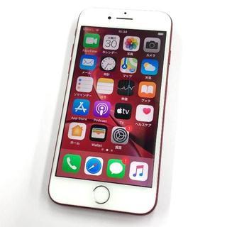 アップル(Apple)の極美品 SIMフリー iPhone7 128GB レッド バッテリー新品 〇判定(スマートフォン本体)