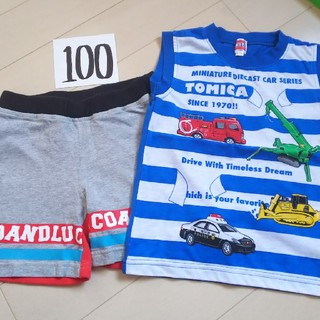 タカラトミー(Takara Tomy)のトミカのタンクトップとCOCOLULU短パン(Tシャツ/カットソー)