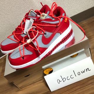OFF-WHITE - Off-White x Nike Dunk Low red 26cm