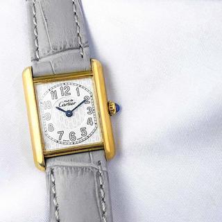 Cartier - 【仕上済】カルティエ タンク アラビア文字盤 ゴールド レディース 腕時計
