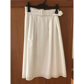 スピックアンドスパン(Spick and Span)のSpick&Span 白スカート(ひざ丈スカート)