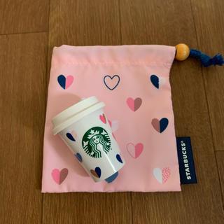 スターバックスコーヒー(Starbucks Coffee)のスタバ ミニカップ・巾着セット(小物入れ)