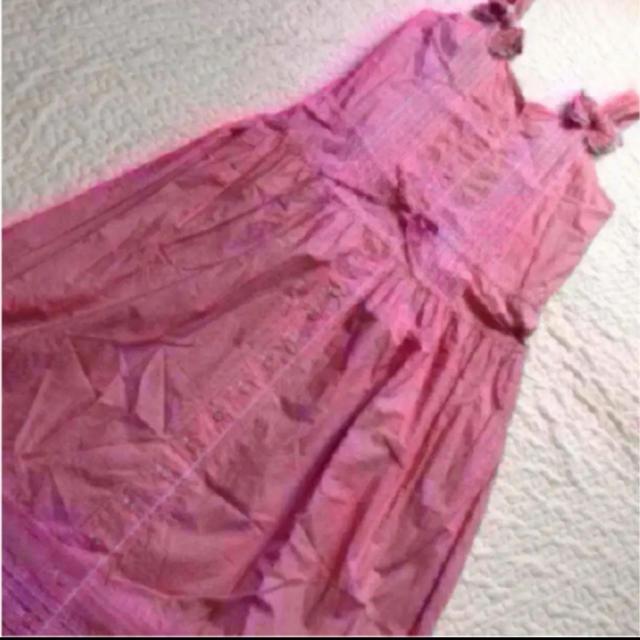 PINK HOUSE(ピンクハウス)の赤×白ギンガムチェック キャミワンピ☆ピンクハウス レディースのワンピース(ロングワンピース/マキシワンピース)の商品写真