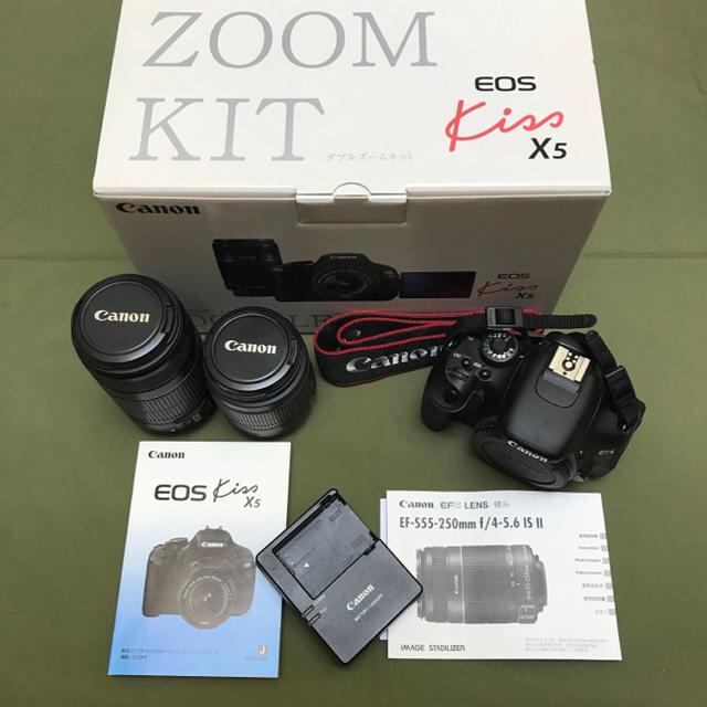 Canon(キヤノン)の[美品]一眼 EOS kiss X5 ズームレンズキット スマホ/家電/カメラのカメラ(デジタル一眼)の商品写真