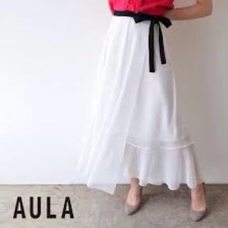 アウラアイラ(AULA AILA)の新品未使用!アウラのメッシュ素材フレアスカート ペチコート付き(ロングスカート)
