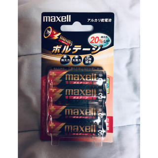マクセル(maxell)のマクセル アルカリ乾電池 ボルテージ単3 LR6(T) 4B(その他)