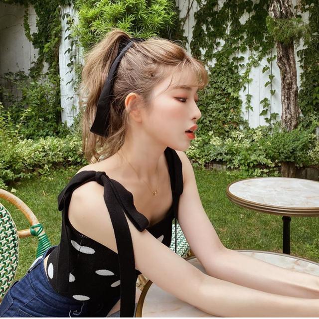 eimy istoire(エイミーイストワール)の即完売♡Darichダーリッチ♡ドット ジャガード ニットキャミ ♡ レディースのトップス(キャミソール)の商品写真