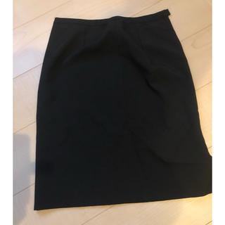 【ほぼ未使用】スーツ 膝丈スカート ブラック