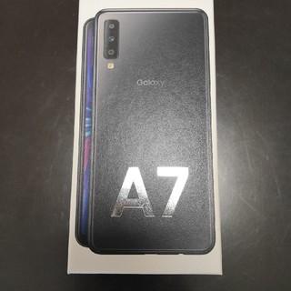 サムスン(SAMSUNG)のGalaxy A7 ブラック 64 GB(スマートフォン本体)