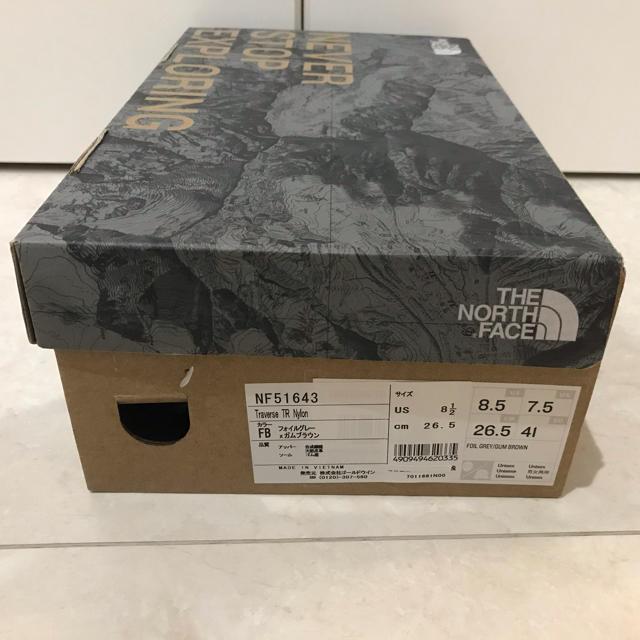 THE NORTH FACE(ザノースフェイス)の新品未使用。ノースフェイススニーカー26.5 メンズの靴/シューズ(スニーカー)の商品写真