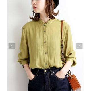 IENA - 新品 IENA サテンフリルシャツ