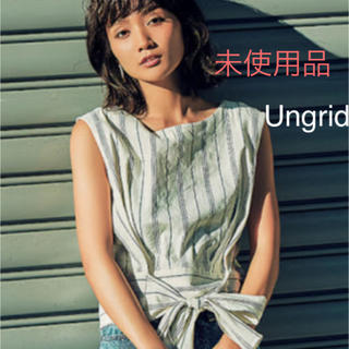 Ungrid - Ungrid / ノースリーブストライプりぼんブラウス