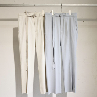 SUNSEA - URU 20ss STRAIGHT PANTS/ light beige