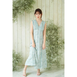 snidel - 新品 herlipto Lace Trimmed Floral Dress