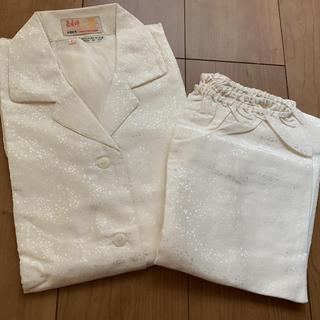 シルク パジャマ ホワイト 絹100%