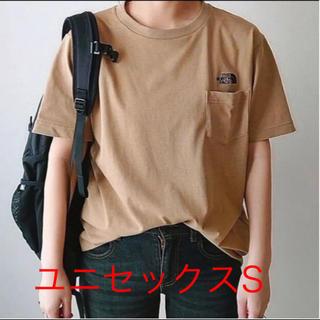 THE NORTH FACE - 即購入可能新品タグ付限定品ノースフェイスシンプルロゴポケットTシャツベージュS