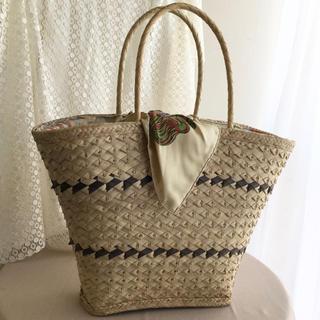 エルメス(Hermes)のエルメスのスカーフを使った籠バッグ(バッグ)