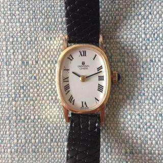 ユニバーサルジュネーブ(UNIVERSAL GENEVE)のハグ様専用 ユニバーサル ジュネーブ 手巻き式腕時計 サファイヤリューズ 14K(腕時計)