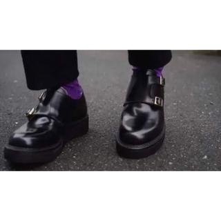 キッズラブゲイト(KIDS LOVE GAITE)のkids love gate ダブルモンク 革靴 ガラスレザー(ドレス/ビジネス)