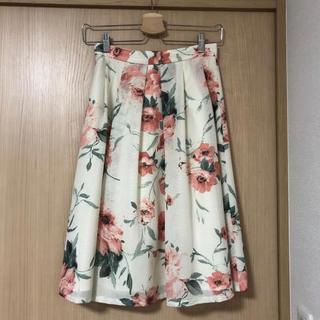 トランテアンソンドゥモード(31 Sons de mode)のひざ丈スカート 花柄(ひざ丈スカート)