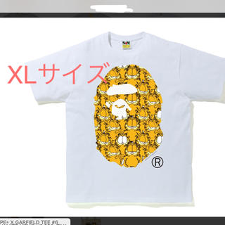 A BATHING APE - BAPE® X GARFIELD TEE ガーフィールド 白 XLサイズ
