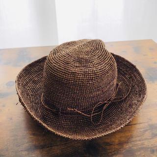 ムジルシリョウヒン(MUJI (無印良品))の無印良品 ラフィア 折畳み帽子(麦わら帽子/ストローハット)