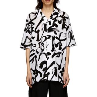 LAD MUSICIAN - KOZABURO 19ss caligracamo boxy-fit shirt