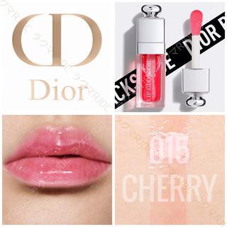 Dior - 【新品箱なし】015 チェリー ディオール アディクト リップグロウオイル