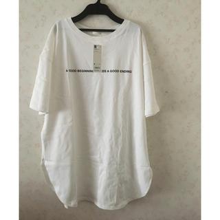 GU - オーバーサイズ ロゴTシャツ GU
