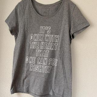 シップス(SHIPS)のシップス トップス カットソー 半袖 Tシャツ グレー レディース 夏(Tシャツ(半袖/袖なし))