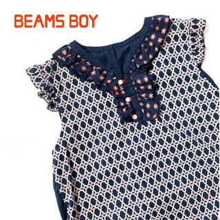 ビームスボーイ(BEAMS BOY)の美品 トリト×ビームスボーイ 襟フリルノースリーブ  BEAMS BOY(シャツ/ブラウス(半袖/袖なし))