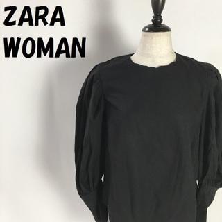 ザラ(ZARA)の【人気】ZARA WOMAN パフスリーブ 背面ボタン ブラウス USサイズM(シャツ/ブラウス(長袖/七分))