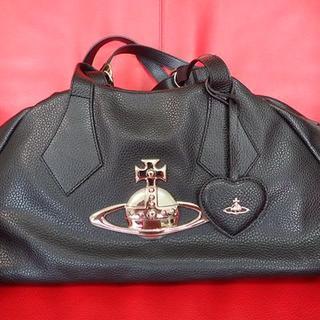 Vivienne Westwood - ヴィヴィアン・ウエストウッド  ビッグオーブボストンバッグ  黒 Italy製