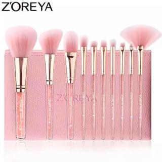 【大人気 新品未使用未開封!】zoreya pink brush♡10本+ポーチ
