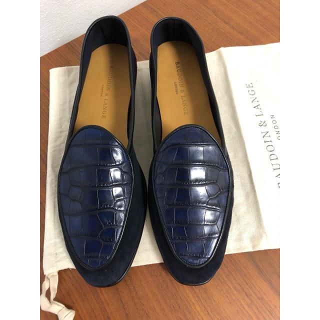 Crockett&Jones(クロケットアンドジョーンズ)の【新品】20.3万 BAUDOIN&LANGE アリゲーターシューズ   メンズの靴/シューズ(スリッポン/モカシン)の商品写真