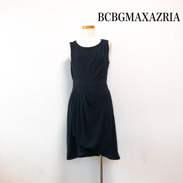 BCBGMAXAZRIA(ビーシービージーマックスアズリア)のBCBGMAXAZRIA 膝丈 ワンピース 黒 美シルエット 後ろレース♡ レディースのワンピース(ひざ丈ワンピース)の商品写真