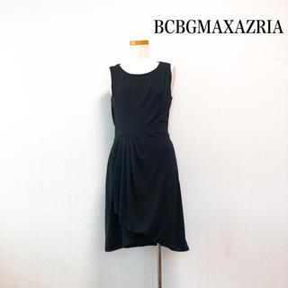 BCBGMAXAZRIA - BCBGMAXAZRIA 膝丈 ワンピース 黒 美シルエット 後ろレース♡