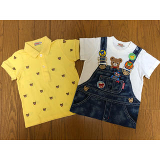 mikihouse - ミキハウス プッチーポロシャツ、豪華だまし絵Tシャツ セット(90)
