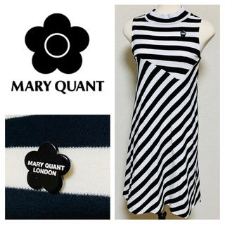 MARY QUANT - MARY QUANT ボーダー&ストライプ柄 ワンピース マリークワント