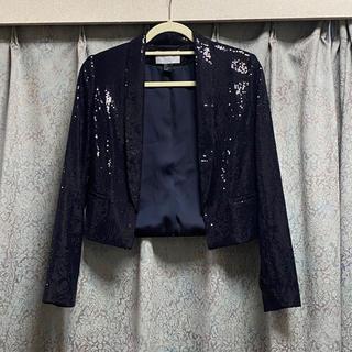 H&M - 美品♡ H&M ジャケット 黒 ブラック スパンコール